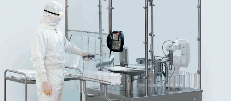 Thanks to the Stäubli TX60 clean room robot, the Cellmate system can automate cell culture processes.