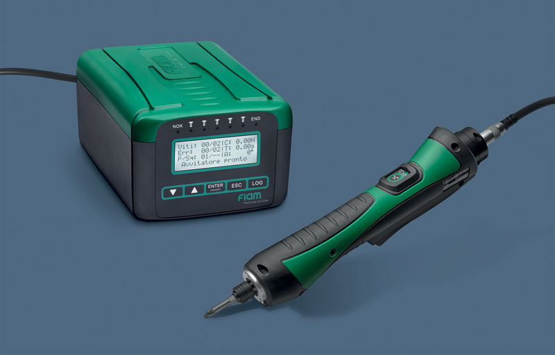 The eTensil range has a torque/angle control system which makes use of current absorption.