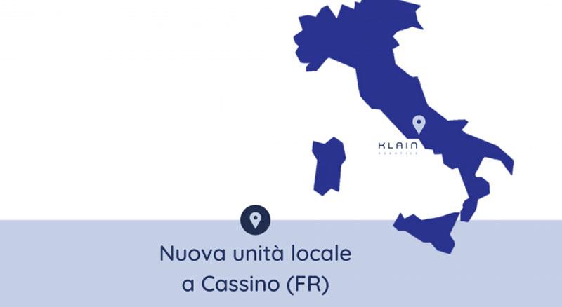 Nuova unità locale a Cassino