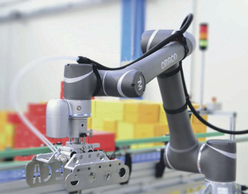 The OMRON TM12 cobot has a payload of 12 kg and reach of 1,300 mm.