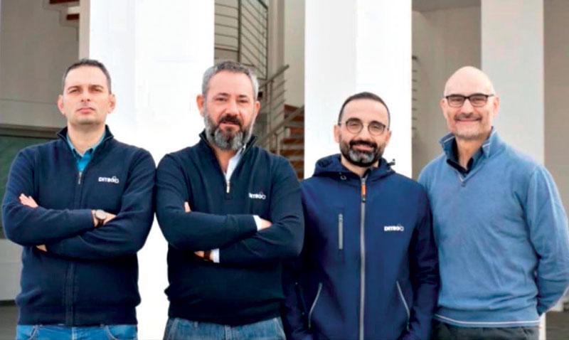 From left: Giovanni Calderoni, Riccardo Castrovilli, Emanuele Bufano and Stefano Signorile.