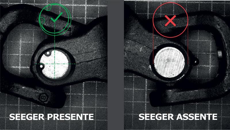 L'applicazione di localizzazione deve verificare la presenza di un seeger meccanico.