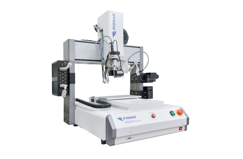 Robots in the  F4000 ELITE series are purposely built for fluid dispensing processes.