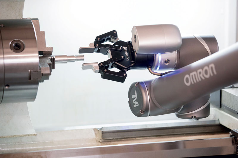 Cobots are ideal for applications such as machine loading, order picking, packaging and testing.