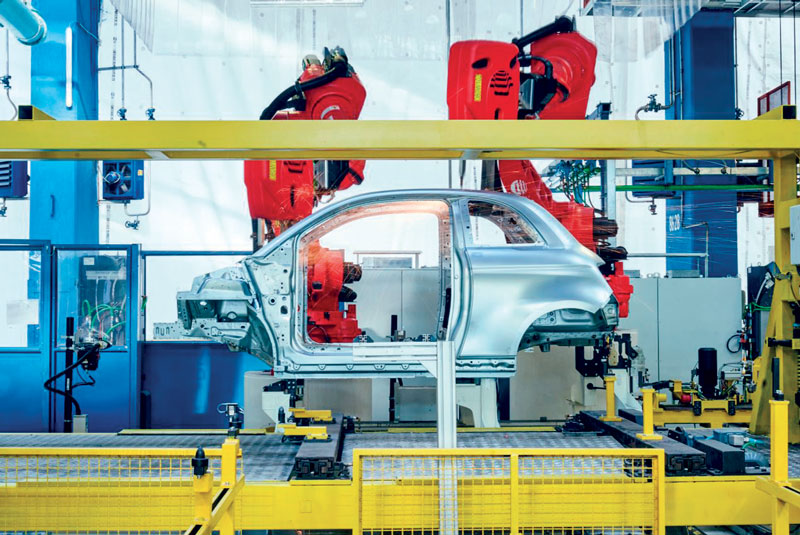 A total of 187 Comau robots were then integrated in the different phases of the car manufacturing process.