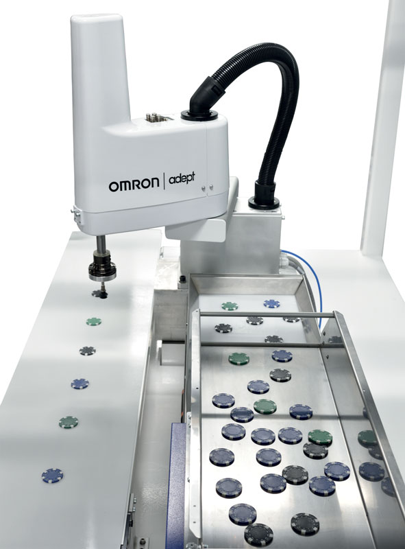 SCARAs are suitable for pick & place applications and other handling processes with low payloads.