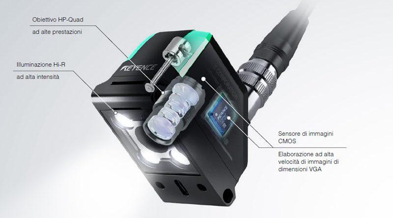 Keyence propone la sua serie IV2 di sensori di visione con AI incorporata per evitare i falsi rilevamenti.