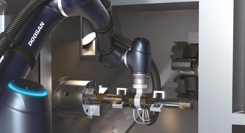 Homberger distribuisce i cobot di Doosan Robotics.
