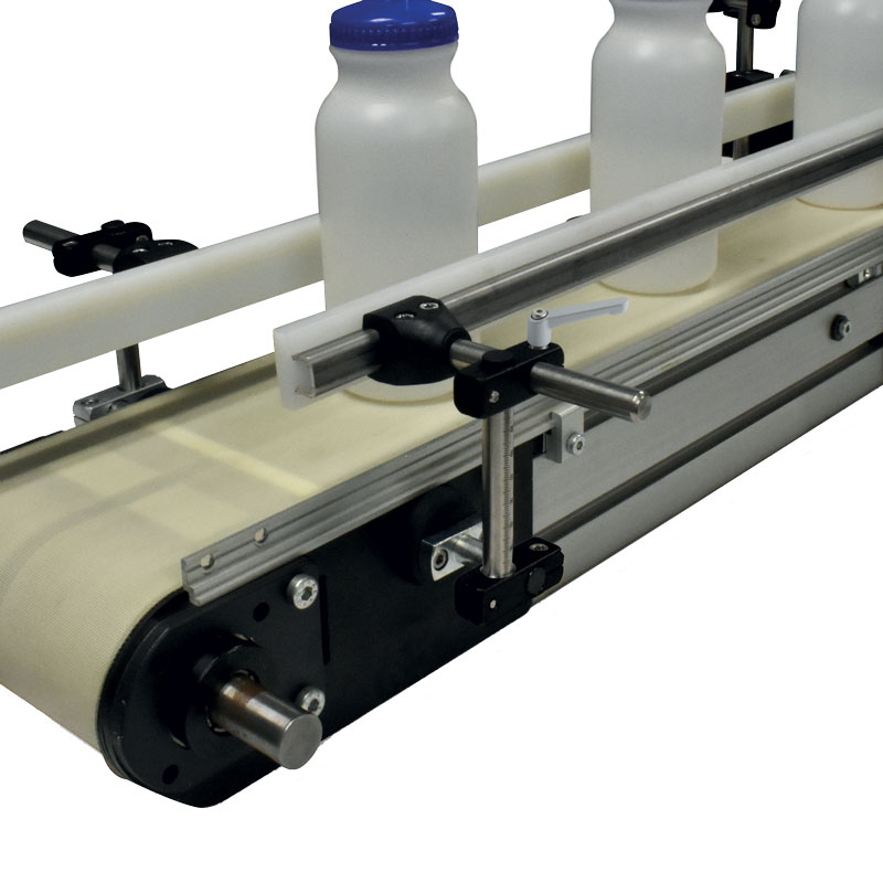 Ruland offers pre-designed systems for mounting guide rails in conveyor applications.