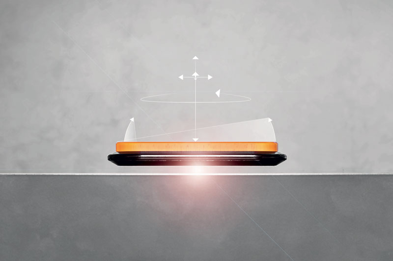 Le navette ACOPOS 6D fluttuano liberamente senza alcun contatto meccanico né attrito.
