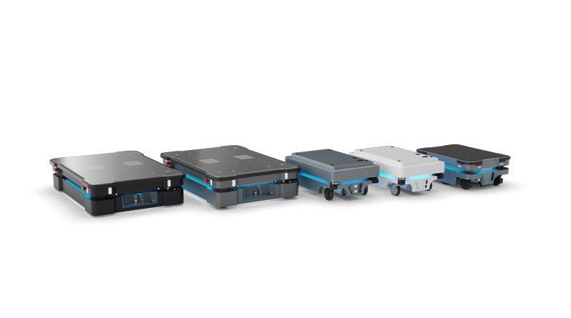 La famiglia di robot mobili di MiR, di cui Klain Robotics è Excellent Partner.