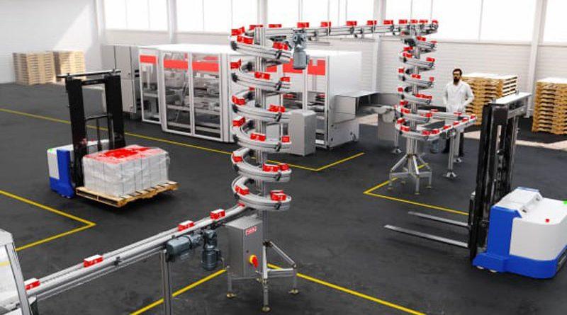 La spirale compatta permette ai produttori di aumentare lo spazio disponibile per la produzione.