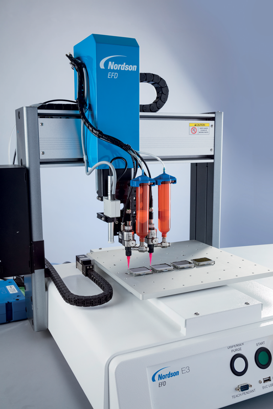 Robotic fluid dispensing maintains consistent fluid deposition with extreme accuracy and repeatability.