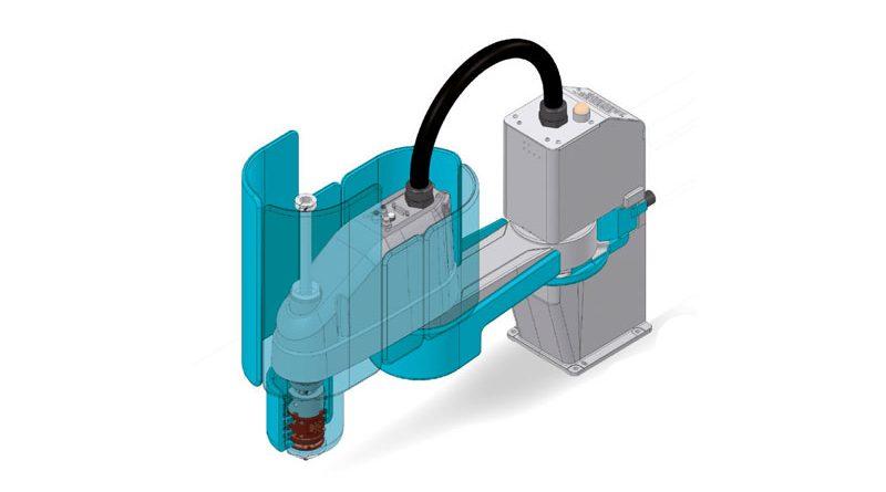 SCARAFLEX è un rivestimento protettivo per i robot SCARA di Epson.