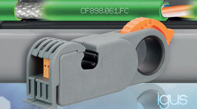 La tecnologia FastConnect per cavi chainflex Profinet garantisce un rapido assemblaggio dei connettori.