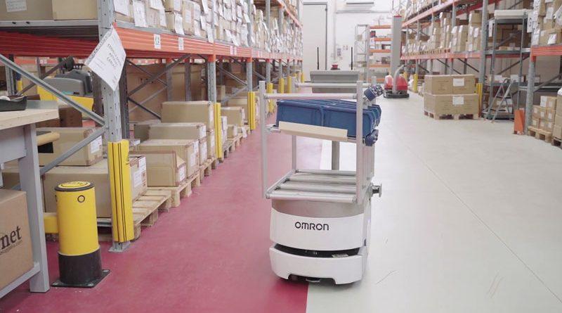 Il robot mobile di Omron è stato scelto da FasThink per migliorare l'intralogistica di Garnet.