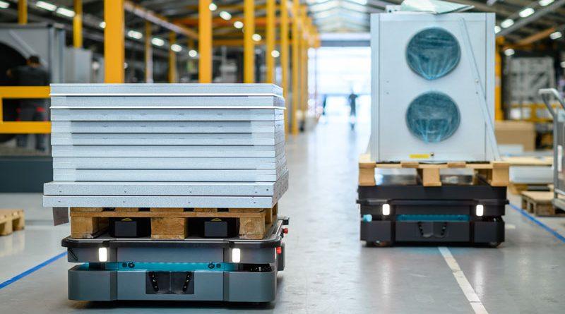 MiR600 e MiR1350 sono i due AMR di Mobile Industrial Robot per la logistica.