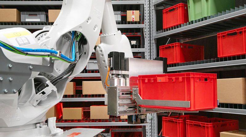 La cella FlexBuffer è dotata di un robot ABB.
