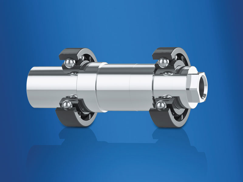 The arrangement with bearings at both encoder shaft ends has proven its worth.