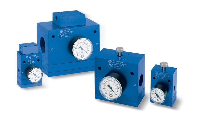 Il riduttore di vuoto mantiene un grado di vuoto costante e regolabile.
