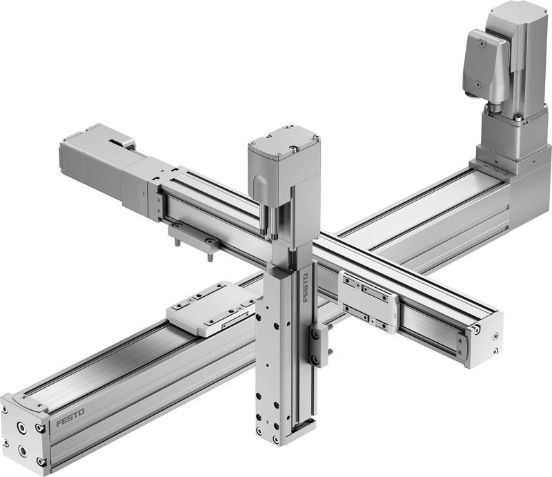 L'asse meccanico ELGC permette un montaggio semplice e veloce.