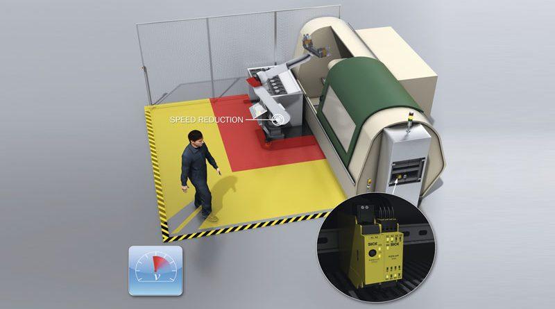 Il sistema di sicurezza sBot Speed adatta la velocità quando le persone si avvicinano.