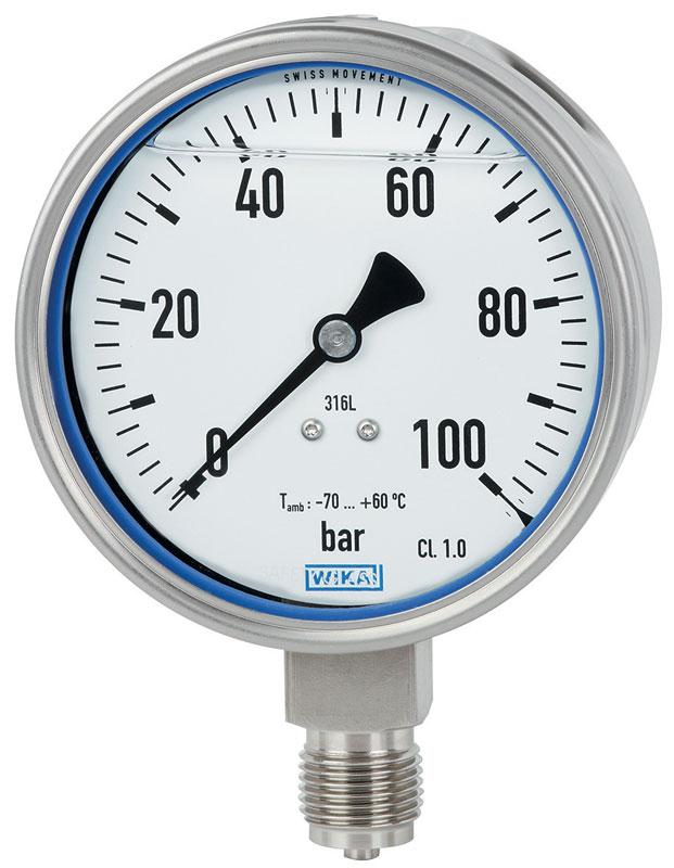 Il manometro PG23LT per bassa temperatura ambiente fino a -70 °C.