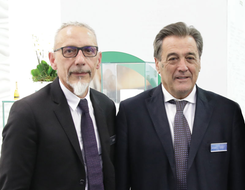 From left to right, Roberto Altieri e Giuseppe Simonini, respectively President and CEO of Alsiter.