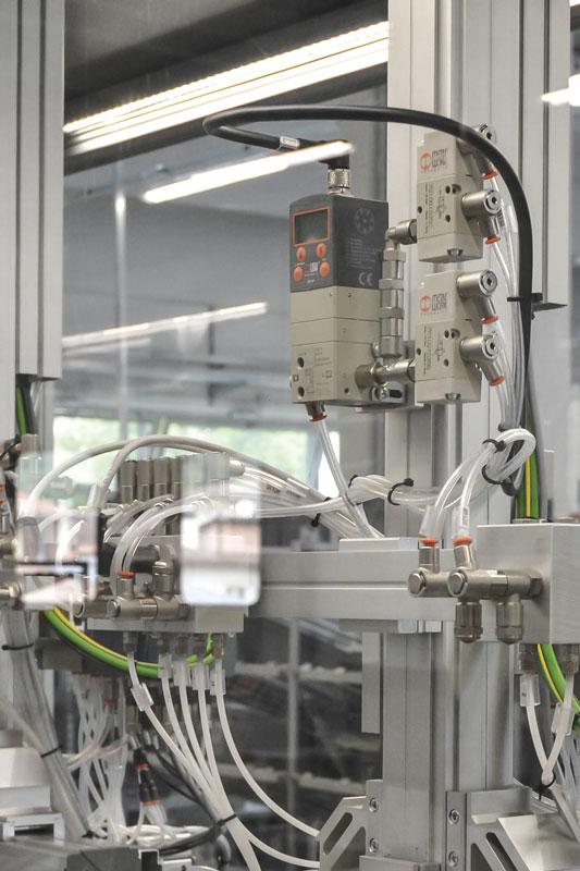 A Regtronic pressure regulator in machine.