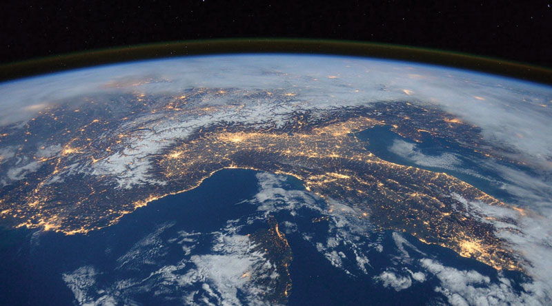 La Terra vista dall'International Space Station.