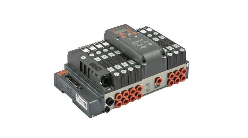 Il sistema EB80 col nuovo regolatore elettronico di pressione integrato.