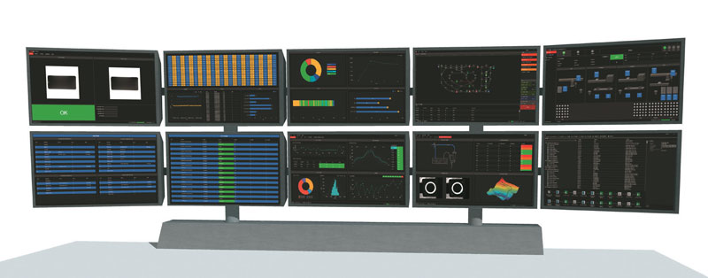 Information displayed on the central control platform's HMI.