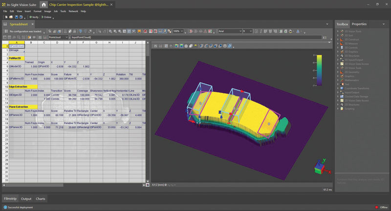 Intuitive setup and execution on 3D point cloud images.