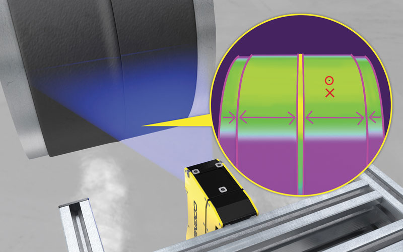 When inspecting welds on rubber hoses, the 3D-L4000 detects the smallest defects.