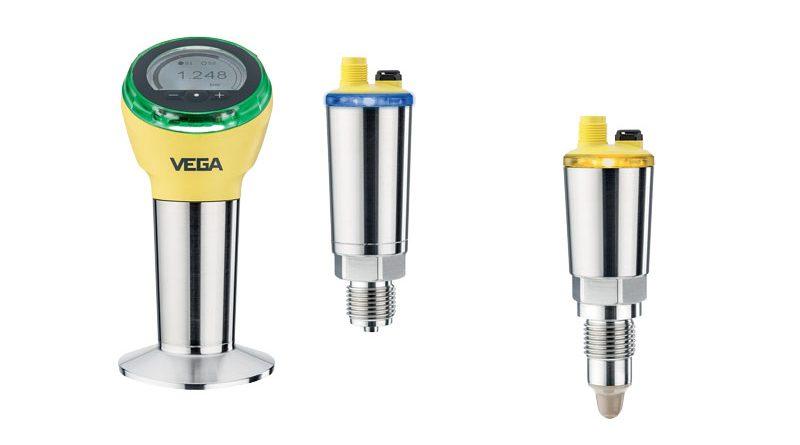 I nuovi sensori di pressione compatti VEGABAR e gli interruttori di livello capacitivi VEGAPOINT.