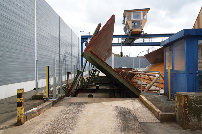 This is where the sugar beets arrive and are processed.