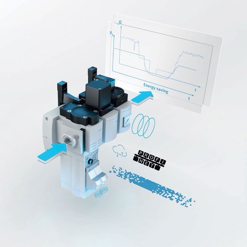 PROFIbus, PROFInet, Ethernet/IP, Ethercat and Modbus/TCP connections  are possible.