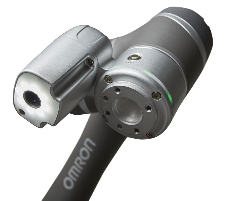 Omron TM  has a built-in camera and  an integrated vision system.