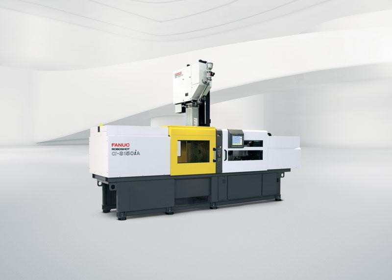 Pressa a iniezione α-S150iA nella versione per lo stampaggio multicomponente.