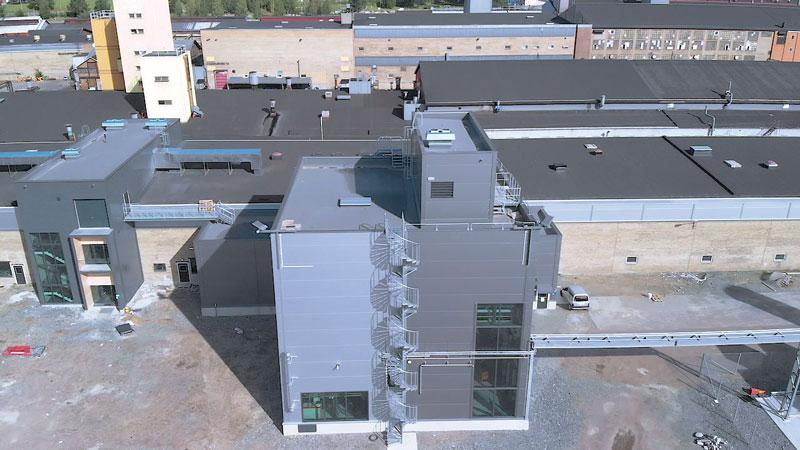 Lo stabilimento Sandvik che produce la polvere di titanio.