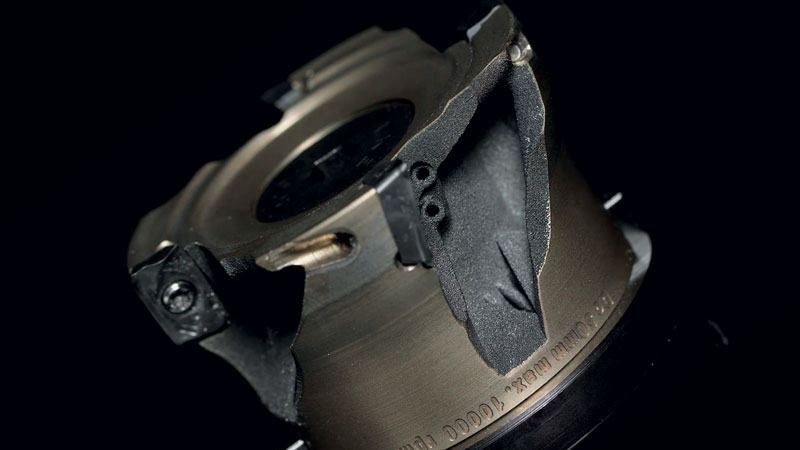 CoroMill 390® in versione leggera ha un corpo fresa realizzato utilizzando la produzione additiva.