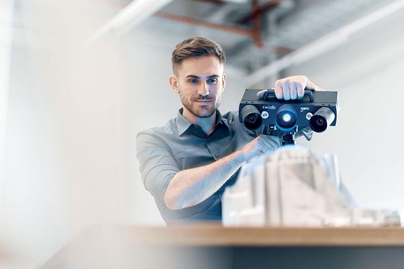L'operatore può usare ATOS Q agilmente nel luogo preposto per la misurazione, nella sala metrologica oppure direttamente nel reparto produzione.