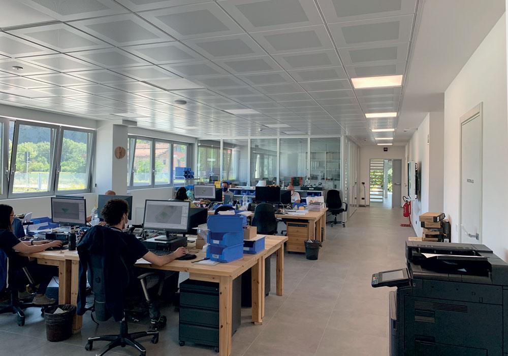 Vista dell'Ufficio Tecnico di Tacchificio Monti.