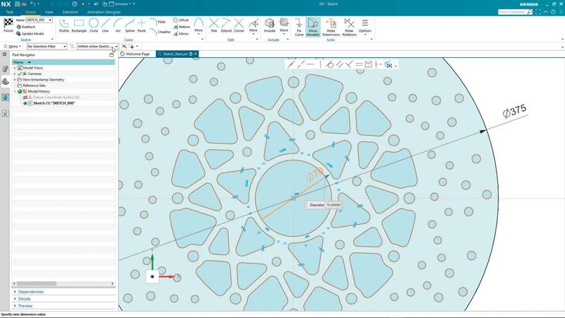 Per garantire un digital twin completo, Siemens Digital Industries Software ha sviluppato il nuovo software CAD basato su Intelligenza artificiale (AI) NX Sketch.