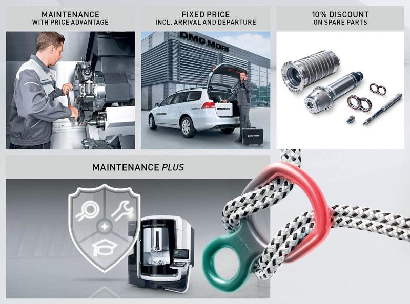 Il programma Maintenance Plus di DMG MORI è un accordo di manutenzione a un prezzo speciale, che include uno sconto sulle riparazioni consigliate alla macchina risultanti dalla manutenzione.
