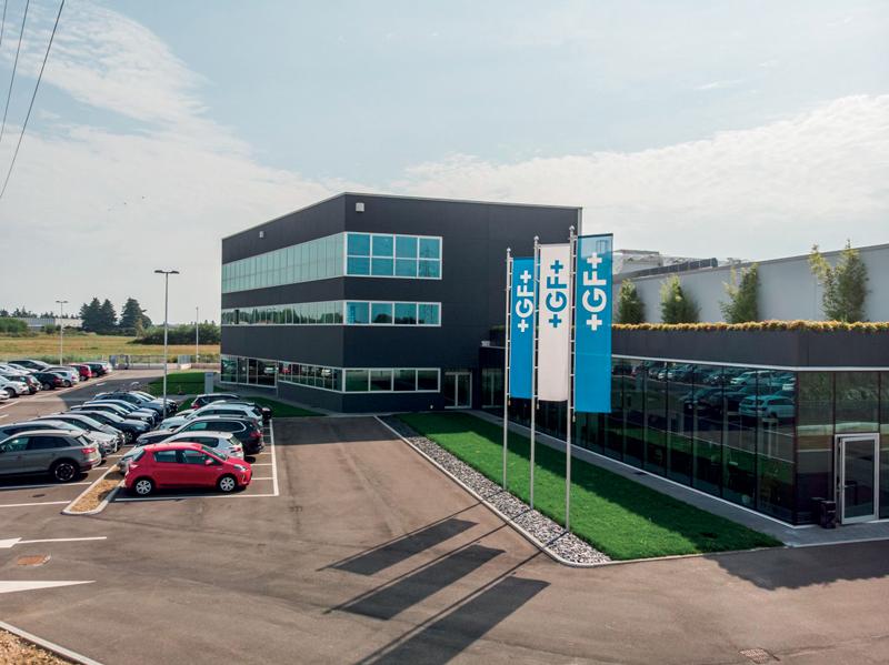 La nuova sede di GF Machining Solutions e GF Piping Systems è ad Agrate Brianza, alle porte di Milano.