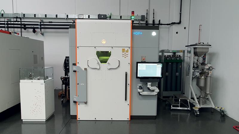 Il sistema di Additive Manufacturing per metallo ad alte prestazioni DMP Flex 350 presente nel Centro Tecnologico.