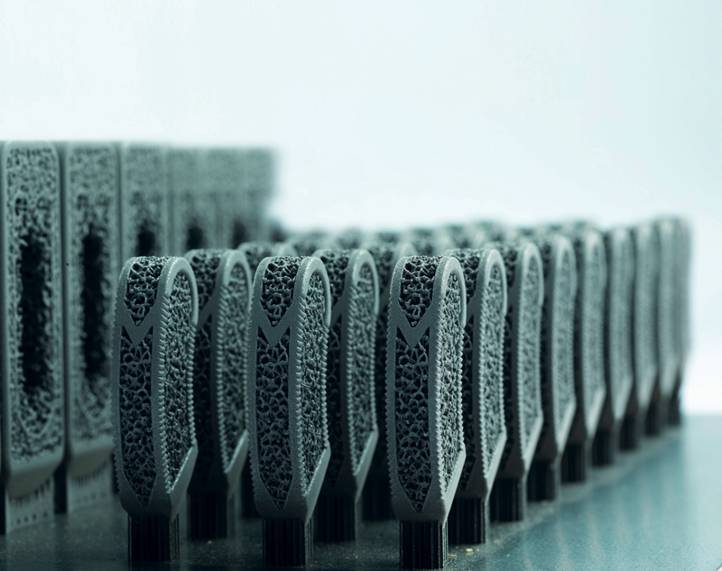 Componenti per il settore medicale ottenuti tramite Additive Manufacturing.