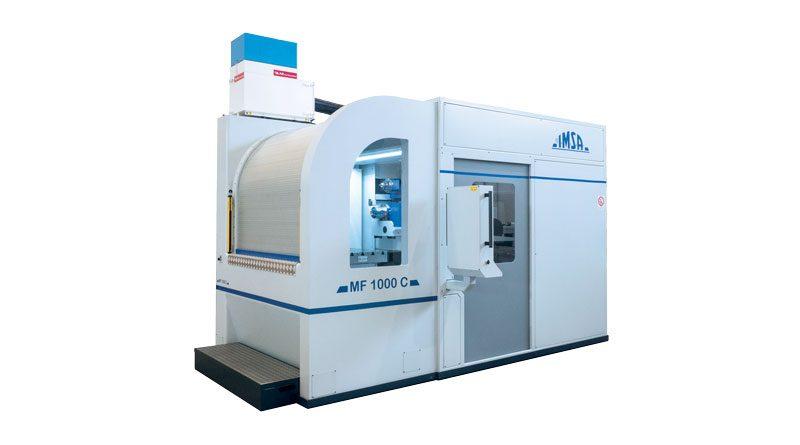 MF1000C è una macchina compatta, adatta anche alla foratura assiale e fuori asse di pezzi cilindrici.