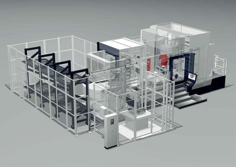 Il centro UMILL 1500 è indicato per la fresatura a 5 assi di pezzi complessi in un singolo staffaggio.
